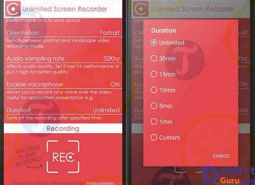 Unlimited Screen Recorder Free