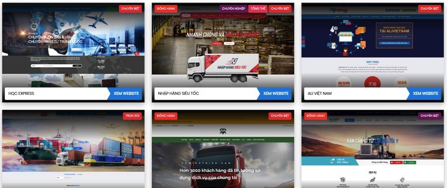 Các dự án thiết kế web nhập hàng