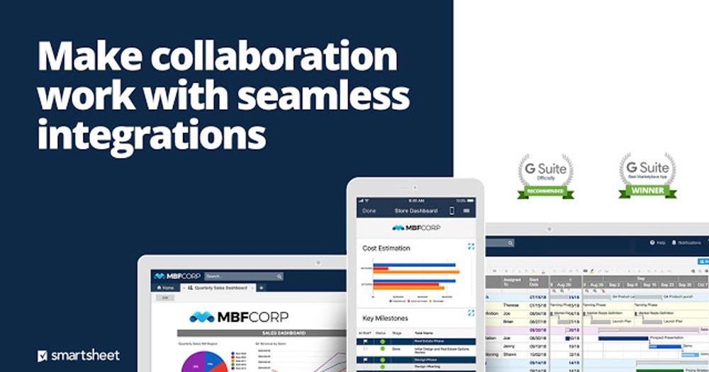 ứng dụng quản lý dự án Smartsheet