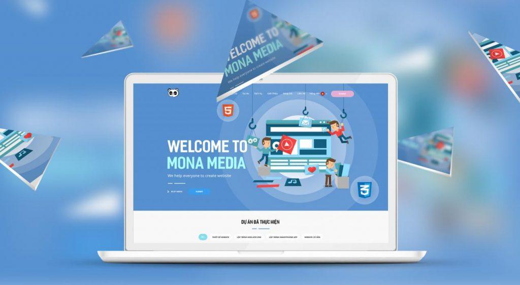 công ty thiết kế web spa Mona Media